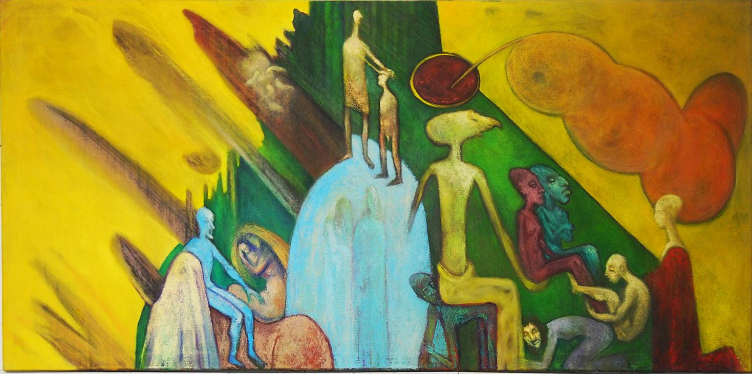 olej, plátno, 180x75