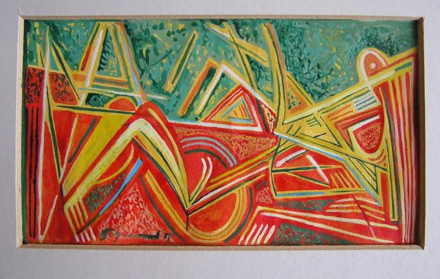 akryl, karton 20x15